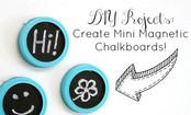 DIY Mini Magnetic Chalkboards