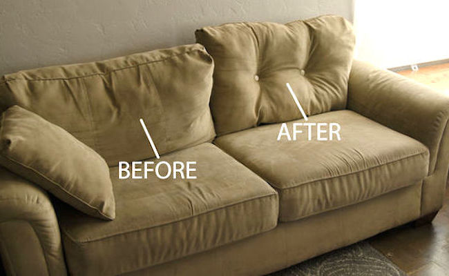Try This $1 DIY Fix For Sagging Couch Cushions