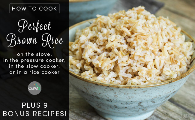 How to cook brown rice care2 healthy living how to cook perfect brown rice with recipes ccuart Images