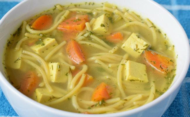 vegan chicken noodle soup care2 healthy living