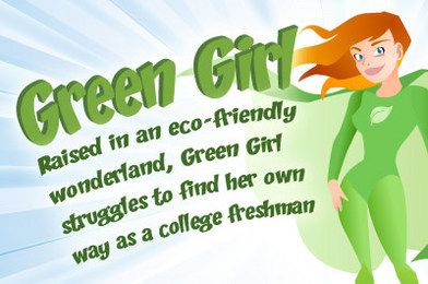 Splat! Green Girl Whacks Air Fresheners