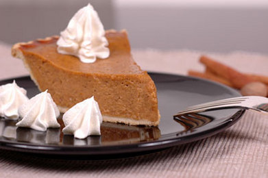 Pumpkin Pie with Candied Ginger