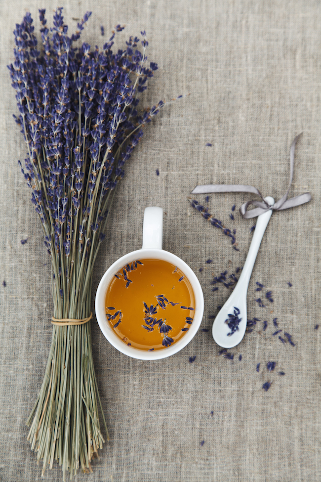 Lavender and mint tea