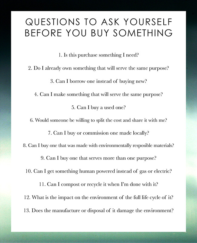 Questions to Ask Before You Buy Something