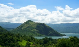 Taal Volcano in the Philippines, 30 miles south of Manila