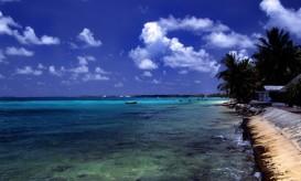 Funafuti atoll in Tuvalu