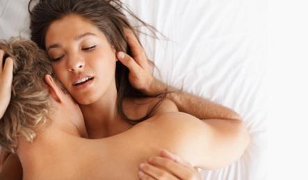 Couple having passionate sex