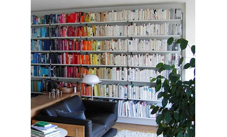 Easy Home Decor: Books Arranged By Color | Care2 Healthy Living