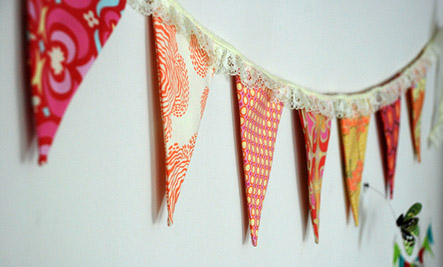 Handmade fabric garland.