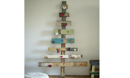 above one of the easier diy ideas weve seen via desire to inspire for more ideas on christmas tree - Wooden Christmas Trees