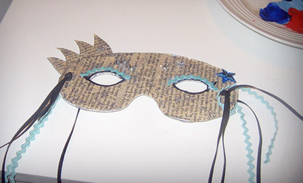 recycled masquerade mask