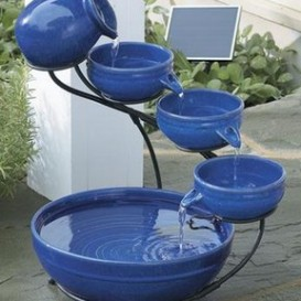 Solar Garden fountains don't require electricity