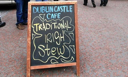 Irish Stew sign