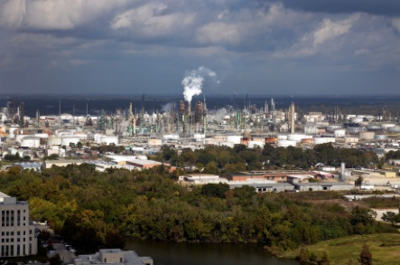 Industrial area of Baton Rouge