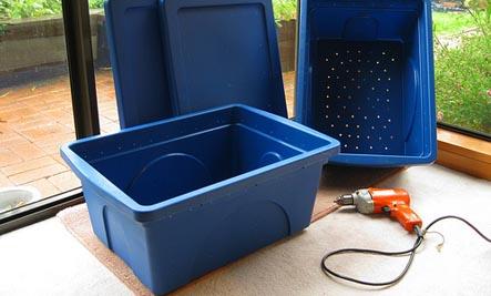 building a worm bin