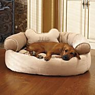 This attractive Dog couch from Frontgate gives a space for your pet that fits the room decor and matches the color of the pet's coat