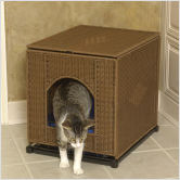 These attractive cat box covers can be put anywhere