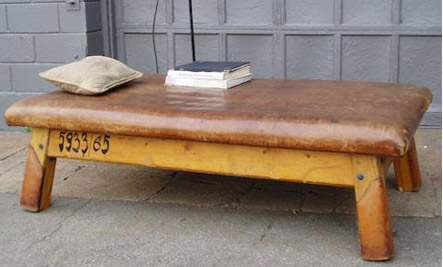Exceptional Above: A Vintage Leather Bench ...