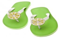 Lime Themed Flip Flops