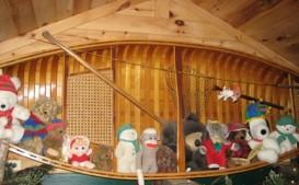 stuffies in boat