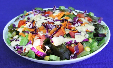 Rainbow Salad with Moroccan Dressing