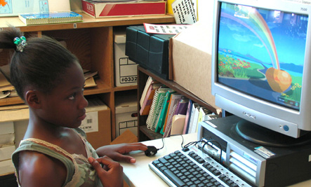 Child using emWave
