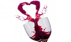 Wine glasses clicking together