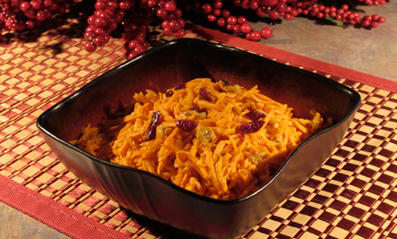 Jeweled Carrot Salad with Cranberries and Walnuts