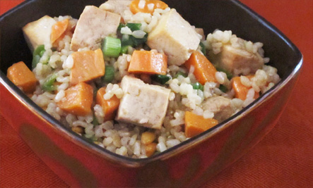 Tofu Sweet Potato Rice