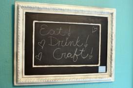 chalkboard paint sign