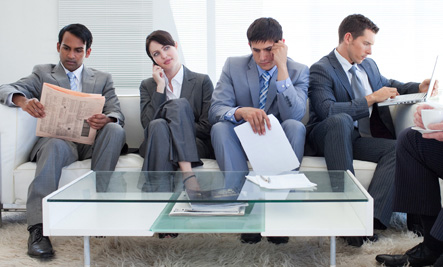 People Waiting in Office