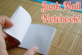 junk mail notebook