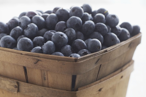 buying blueberries