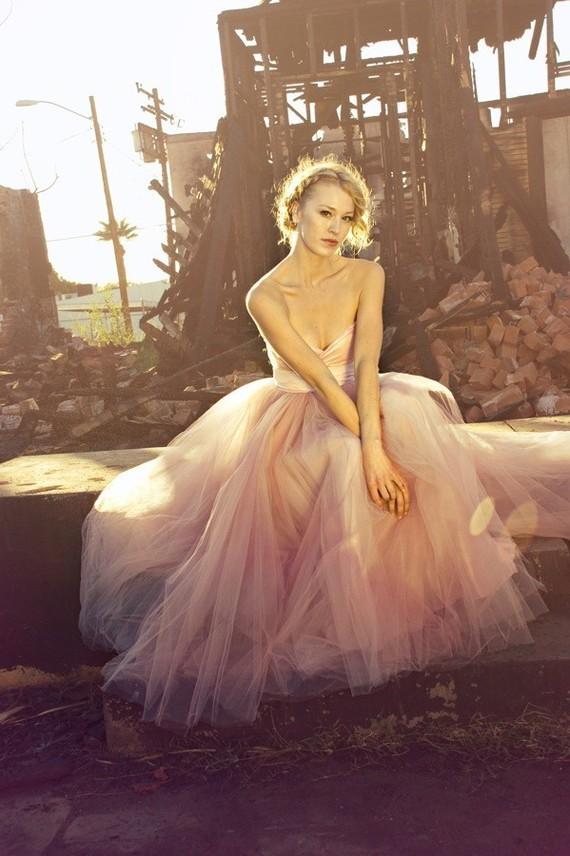 floor-length wedding gown