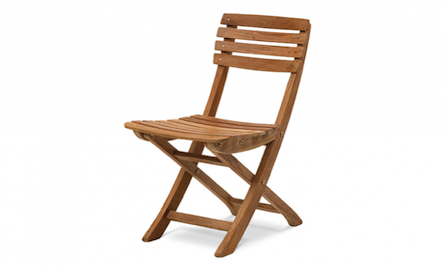 Above Skageraks Teak Folding Chair