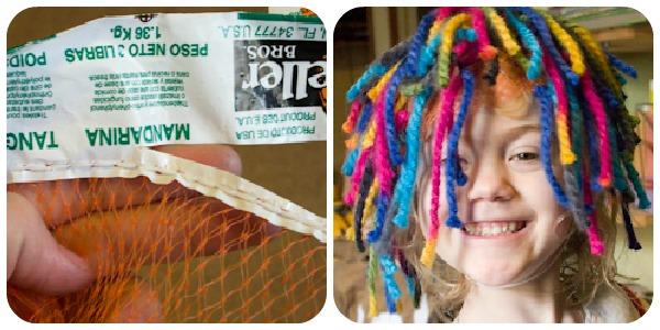 upcycled wig costume idea