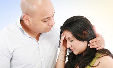 Man conforting women