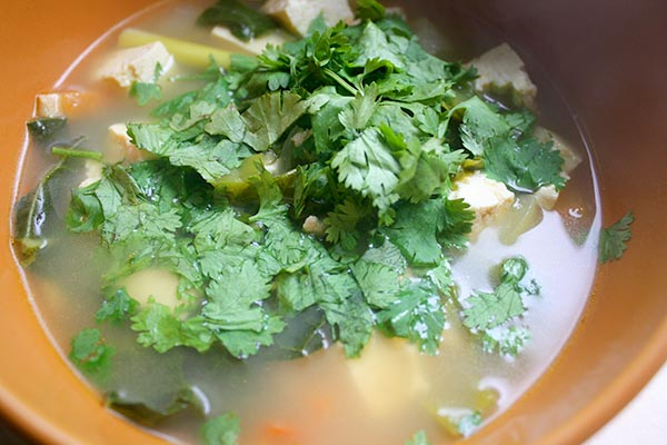 kale tofu lemongrass soup