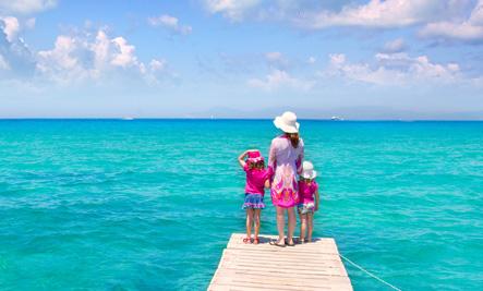kids on boat dock