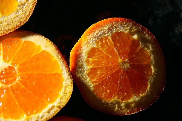 Oranges rich in vitamin C.