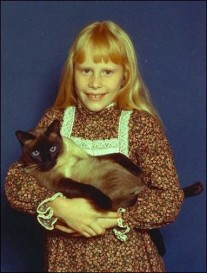 Amy Carter and cat
