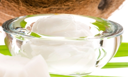 coconut oil in a bowl