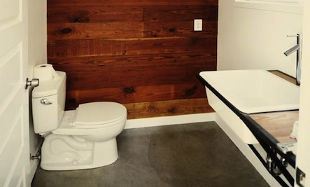 Above: Wool paneled walls ... - Wood Paneling In The Bathroom Care2 Healthy Living