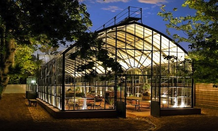 Above: The Lit Greenhouse During Night Hours.