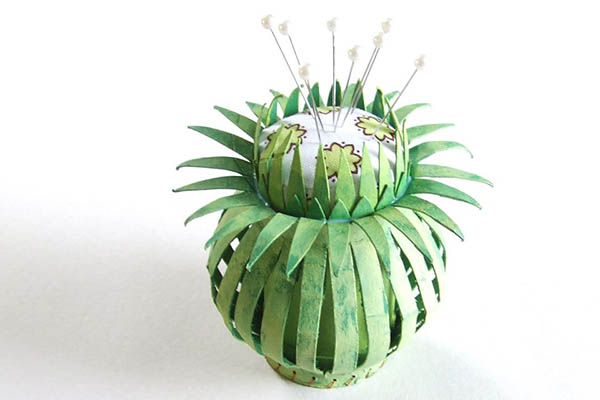 paper tube pincushion