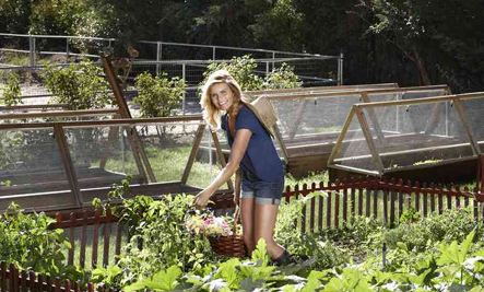 Mariel Hemingway in the garden