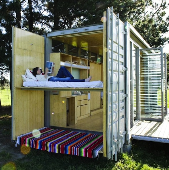 Houses Made Out Of Containers a house made from a shipping container | care2 healthy living