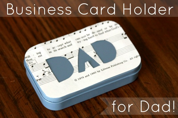 fathers day business card holder