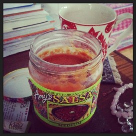 GD Meg's Gazpacho in an Upcycled Salsa Jar