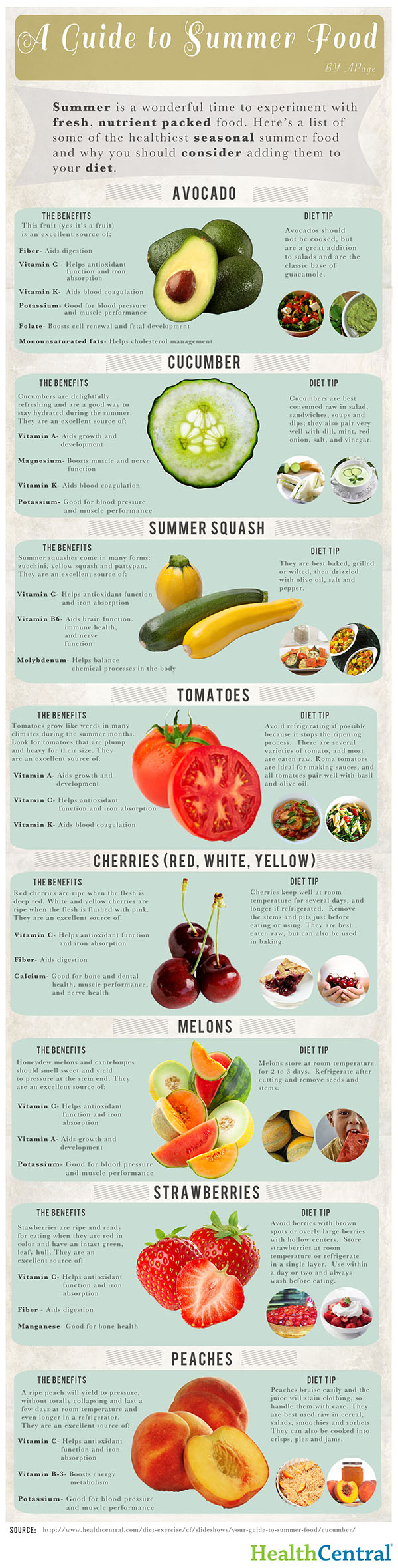 summer fruits infographic
